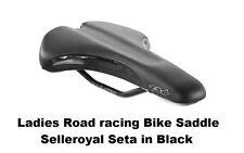 SELLE ROYAL LADIES WOMENS ROAD RACING BIKE SADDLE Gel Padded SETA BZP879 Black