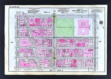 1921 New York City Map Broadway Times Square Theaters Opera Bryant Park Library
