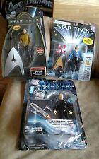 Lot Of 3 NIP Star Trek action figures! Sulu, Data & Harry Mudd