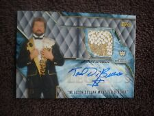 2017 TOPPS WWE LEGENDS TED DIBIASE AUTOGRAPH AUTO SHIRT RELIC ONLY 5 MADE RARE!!