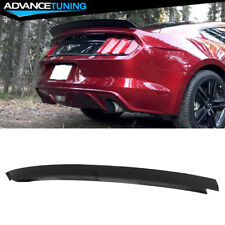 Fits 15-19 Ford Mustang Trunk Spoiler Wing Lip Gloss Black ABS