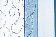 2 Schiebevorhänge Schiebepaneele Raumteiler Ranke weiss blau Stickerei B/H45x245