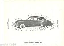 1949 1950  Oldsmobile Four Door Body Trim  NOS Parts Guide Series 76 88