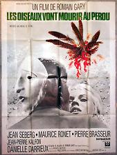 Affiche LES OISEAUX VONT MOURIR AU PEROU Romain Gary JEAN SEBERG 120x160cm 1968