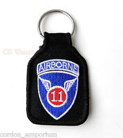 US ARMY 11TH AIRBORNE DIVISION EMBROIDERED KEY CHAIN KEYRING 1.75 X 2.75