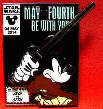 Disney Star Wars Day May The 4th Be With You Jedi Mickey Mouse 2014 Pin+2017Map