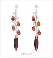 Sterling Silver CZ Tree Chandelier Post Earrings #53088