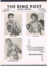1969 Houston boxing program Gonzalez Hidalgo Gabino Moten Mott Rosa Jose Napoles