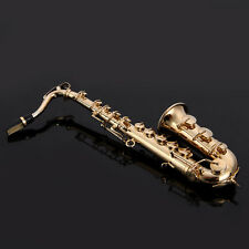 High Quality Gifts! Alto Saxophone Sax model 1/6 Mini Musical Instrument w/ Box