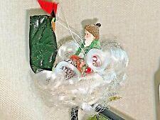 John McRae Seasons Cannon Falls Clip on Gnome Elf on Sailboat Ornament