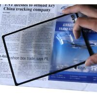 A5 Flat PVC Magnifier Sheet X3 Book Page Magnifying Reading Glass Lens AU