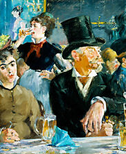 At the Cafe A1+ by Edouard Manet High Quality Canvas Art Print
