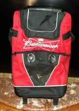 New listing Budweiser Rolling Cooler With Speakers & Adjustable Handle & Shoulder Strap.