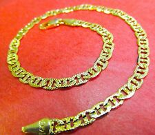 "NEW 14k Karat Gold Filled Mariner Diamond Cut  9"" Anklet Ankle Bracelet"
