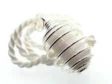 Scolecite Large gemstone Crystal Spiral Pendant