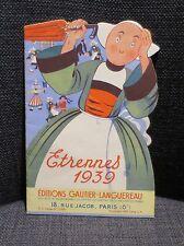 BECASSINE rare catalogue publicitaire livres Gautier Languereau Etrennes 1939
