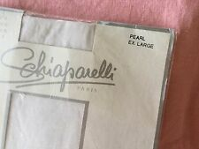 Vintage Schiaparelli Silky Sheer pantyhose Pearl size Ex Large new in packet