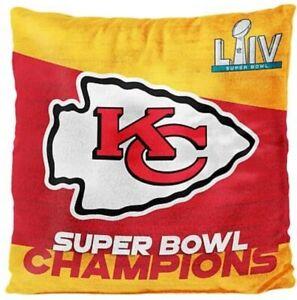 Kansas City Chiefs Super Bowl Champions Champs Blanket Throw Coach Plush Pillow