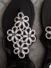 African leather sandals. Masai Handcrafted beaded Sandals.