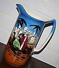 STUNNING UNUSUAL LARGE VINTAGE CZECH VICTORIA CHINA WATER JUG PITCHER 33cm