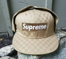 2008 Rare Supreme New Era Box Checkered Earflap Fitted Hat Size 7 3/8 (SS08)