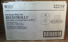 """38 Rolls National Checking Co. 2-1/4""""X100' 2 Ply Pos Register Rolls"""
