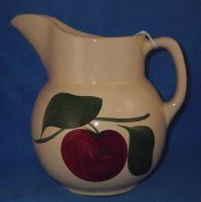 Vintage Watt Pottery 2 Leaf Apple # 16 Pitcher