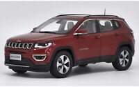 1/18 Scale Jeep Compass SUV 2017 Red Diecast Car Model Toy Collection Gift NIB