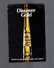 New listing Vintage Collectible 1970s Galliano Harvey Wallbanger recipe booklet