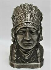 Reproduced Indian Motorcycle - Cast Aluminum Coin Bank - Detailed - Flat Screw