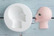 Silicona Molde Art Deco Style señoras cara, Lady, cabeza, ellam Sugarcraft M011