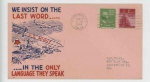 Mr Fancy Cancel WW II Patriotic We insist on the last word pink 9973 '44 #3057