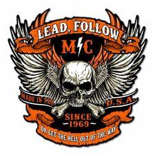 Biker Chopper Motorrad Rocker MC Club Skullwing US Retro Sign Blechschild Schild