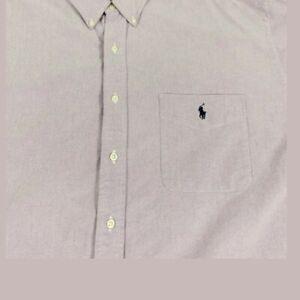 Ralph Lauren Mens Light Purple Shirt  M medium button up Long Sleeve Dress