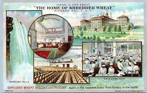 Niagara Falls NY Postcard 1913 Shredded Wheat Factory Interior Advertising OB