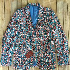 Suslo Couture Blazer Christmas Holiday Ugly Party Candy Cane Slim Fit Mens 40