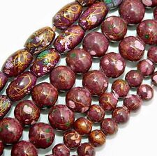 MAGNETIC HEMATITE BEADS PICASSO BURGUNDY MIX COLOR BEAD STRAND 4MM ROUND MP3