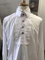 Man's White Cotton Dress Shirt - Civil War, 19th century, Re-enacting - Large