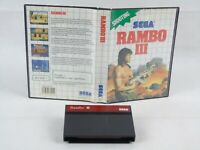 Rambo 3 Sega Master System No Manual PAL