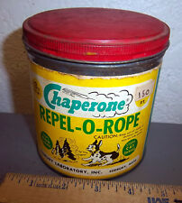Chaperone Repel-o-Rope tin, rope repels dogs & cats, Great Graphics & colors