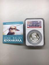 2012-P Australia Kookaburra High Relief $1, NGC PF70 Ultra Cameo w/ COA