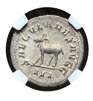 Philip II 247-249 AR DOUBLE-DENARIUS Secular Games Issue 248AD NGC Ch XF 5/5 064