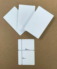 100 x brand new BLANK playing cards (flash card blank BOTH on sides) 5.6 x 8.6cm
