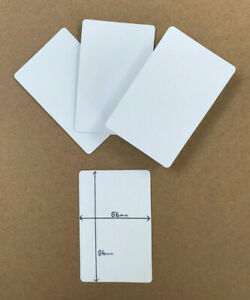 50 blank playing cards / flash card (blank BOTH on sides) 5.6cm x 8.6cm gloss