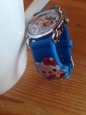 Reloj de Pulsera niños Niñas Hello Kitty Azul Claro Analógico De Acero Correa De Silicona Nuevo