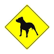 Pit Bull Dog Symbol Crossing Animal Xing Metal Aluminum Novelty Sign 12x12