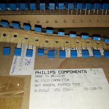 20pcs Nos Genuine Philips Bc 33nF 0.033uF 250V Mkt370 5mm Cap Hi-End Tube Audio!