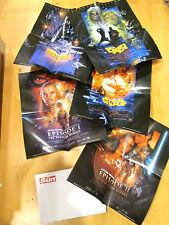 The Sun STAR WARS 5 film posters 2002 promo release EMPIRE / JEDI unused 15 x 19