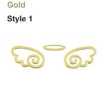 1pc Gold/silver 3d Angel Fairy Wings Logo Car Truck Emblem Badge Decal Sticker Gold 1