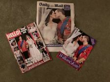 3 x  SOUVENIR NEWSPAPERS/MAGAZINES FROM WILLIAM & KATE'S WEDDING DAY